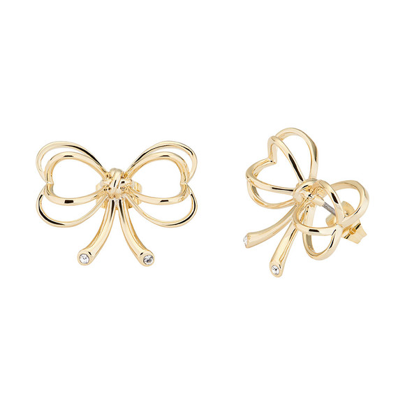 Ted Baker Womens Gold Lakia Heart Bow Stud Earring main image