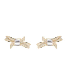 Ted Baker Womens Gold Deljcia Ribbon Bow Stud Earring