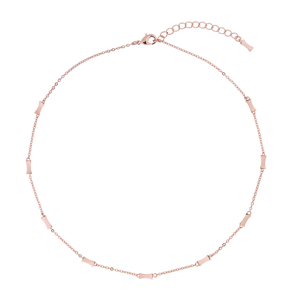 Rose Gold Faye Mini Bow Necklace main image