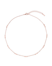 Ted Baker Womens Pink Rose Gold Faye Mini Bow Necklace