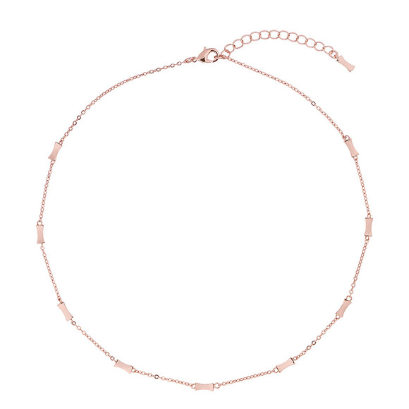 Ted Baker Womens Pink Rose Gold Faye Mini Bow Necklace main image