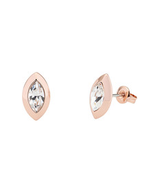 Ted Baker Womens Pink Rose Gold Willow Crystal Wisteria Stud Earring