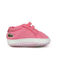 Lacoste Boys Pink L1212 Crib Shoe