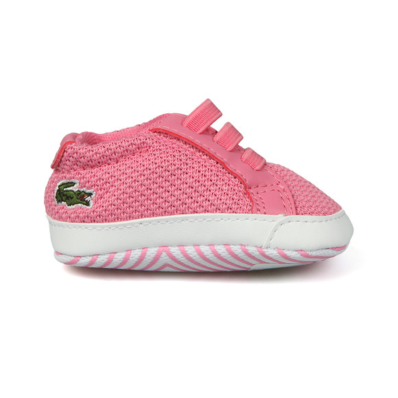 Lacoste Boys Pink L1212 Crib Shoe main image