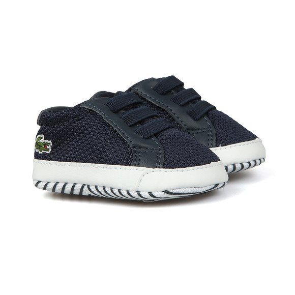 Lacoste Boys Blue L1212 Crib Shoe main image