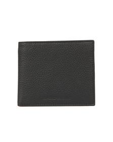 Emporio Armani Mens Black Coin Pocket Leather Wallet