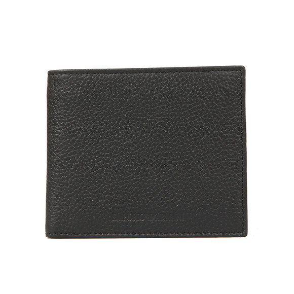 Emporio Armani Mens Black Coin Pocket Leather Wallet main image