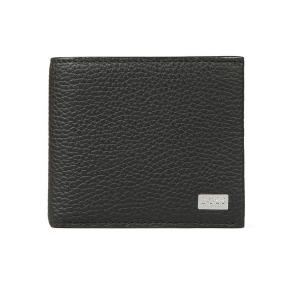 BOSS Bodywear Mens Black Crosstown Card Wallet