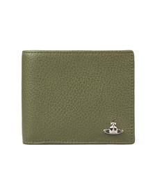 Vivienne Westwood Mens Green Milano Billfold Wallet