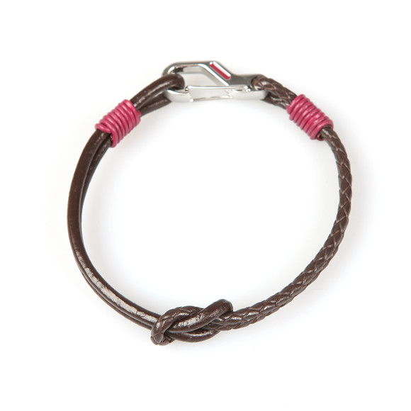Ted Baker Mens Red Knotted Leather Bracelet main image