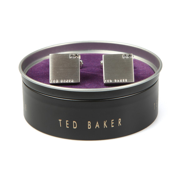 Ted Baker Mens Transparent Corner Crystal Block  Cufflink main image
