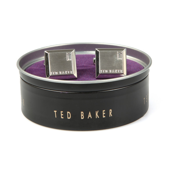 Ted Baker Mens Silver Contrast Square Cufflink main image