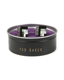 Ted Baker Mens Black Deco Style Shell Cufflink