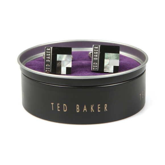 Ted Baker Mens Black Deco Style Shell Cufflink main image