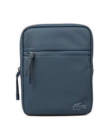 Lacoste Mens Blue M Flat Crossover Bag