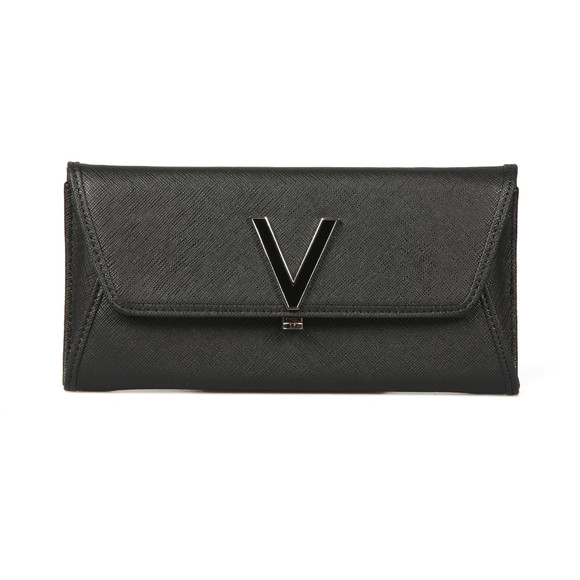 Valentino by Mario Womens Black Flash Clutch main image