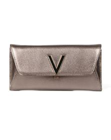 Valentino by Mario Womens Brown Flash Clutch