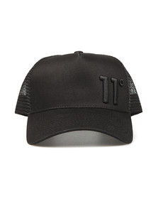 Eleven Degrees Mens Black Trucker Cap