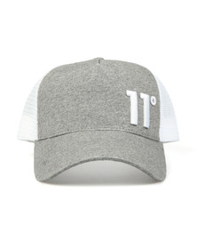 Eleven Degrees Mens Grey Trucker Cap