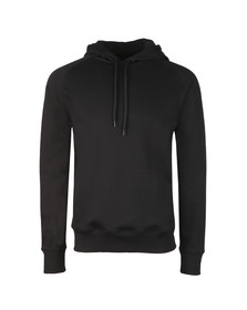 HUGO Mens Black Dayfun Logo Hoody