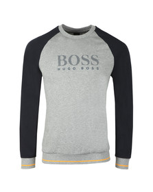 BOSS Loungewear Mens Grey Authentic Two Tone Sweatshirt