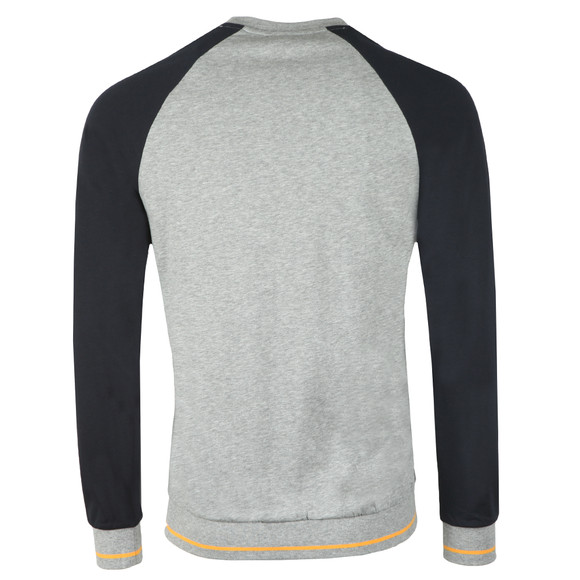 BOSS Loungewear Mens Grey Authentic Two Tone Sweatshirt main image