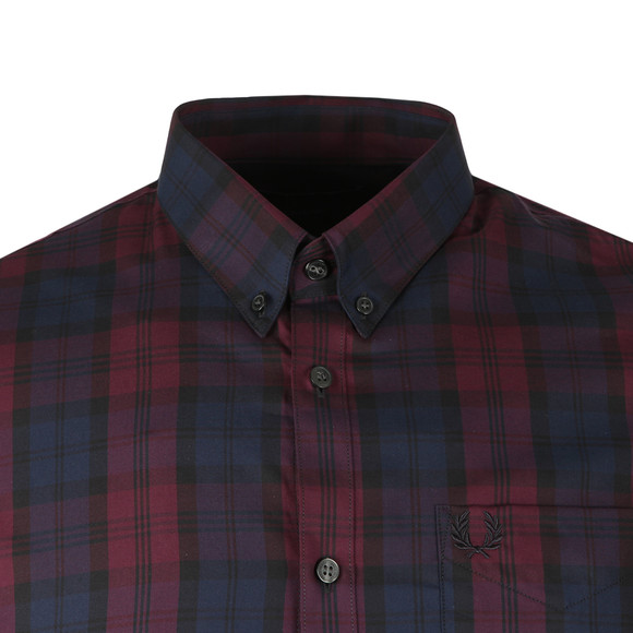 Fred Perry Mens Brown Winter Tartan Shirt main image