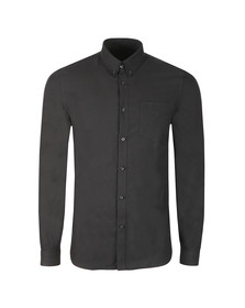 Fred Perry Mens Black L/S Oxford Shirt