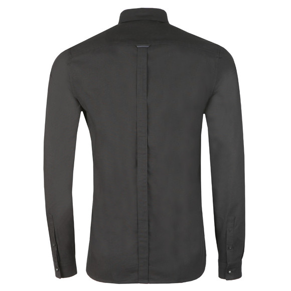 Fred Perry Mens Black L/S Oxford Shirt main image