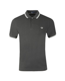 Fred Perry Mens Grey Twin Tipped Polo Shirt