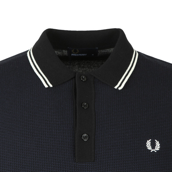 Fred Perry Mens Black S/S Textured Polo main image