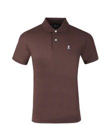 Psycho Bunny Mens Brown Classic Polo Shirt