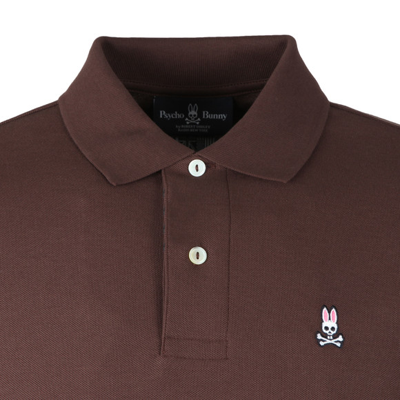 Psycho Bunny Mens Brown Classic Polo Shirt main image