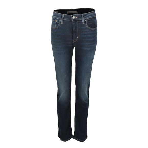 Levi's Womens Blue 724 High Rise Straight Jean main image