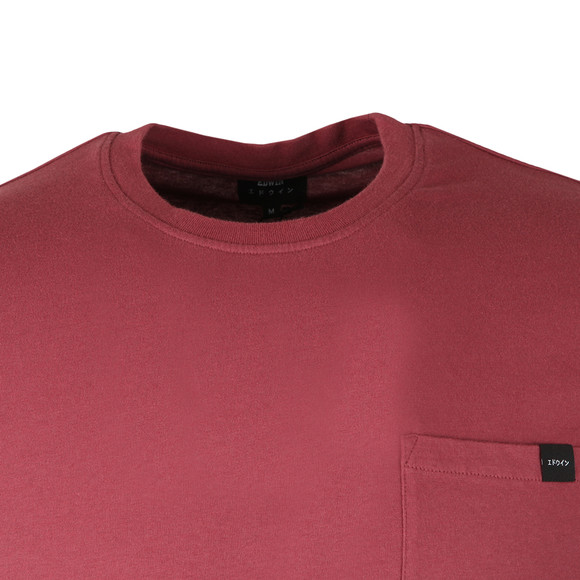 Edwin Mens Red Pocket T Shirt main image