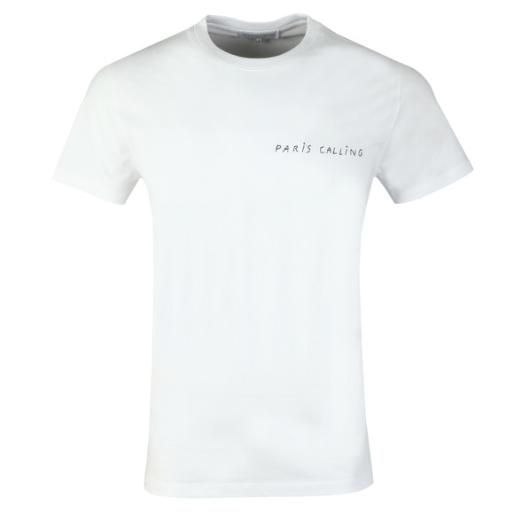 Maison Labiche Mens White Paris Calling Heavy T Shirt main image