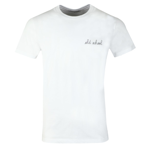Maison Labiche Mens White Old School Heavy Tee main image