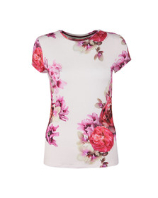 Ted Baker Womens Pink Gabreel Splendour Fitted Tee
