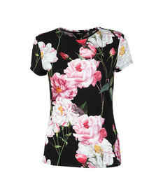 Ted Baker Womens Black Daleyza Iguazu Fitted Tee