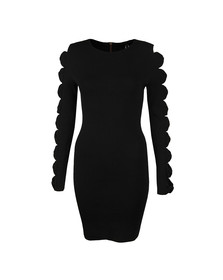 Ted Baker Womens Black Jayney Knitted Sleeve Detail Bodycon Dress