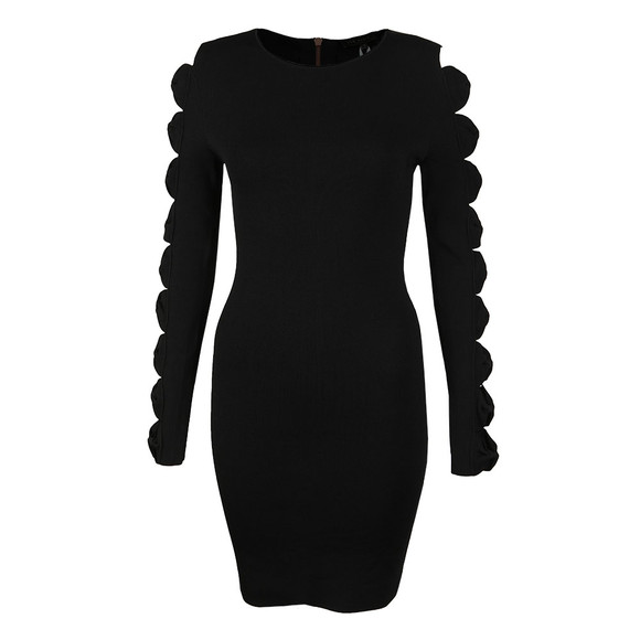 Ted Baker Womens Black Jayney Knitted Sleeve Detail Bodycon Dress main image