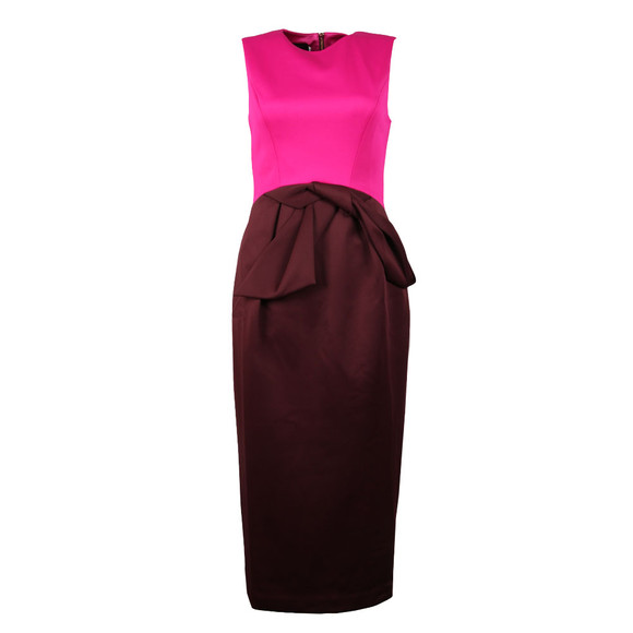 Ted Baker Womens Purple Nikkita Contrast Tulip Bow Midi Dress main image