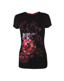 Ted Baker Womens Black Ayvery Splendour Fitted Tee