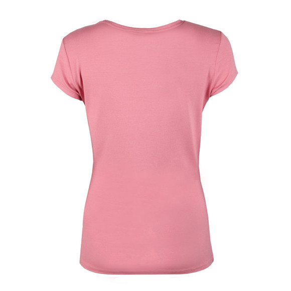 Ted Baker Womens Pink Charre Bow Neck Trim Detail Tee main image