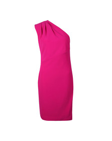 Ted Baker Womens Pink Bettiea Pleat Fold One Shoulder Dress
