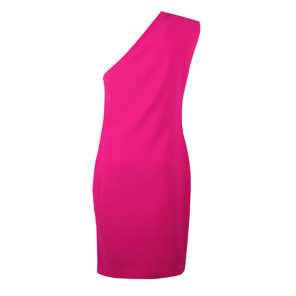 Ted Baker Womens Pink Bettiea Pleat Fold One Shoulder Dress main image