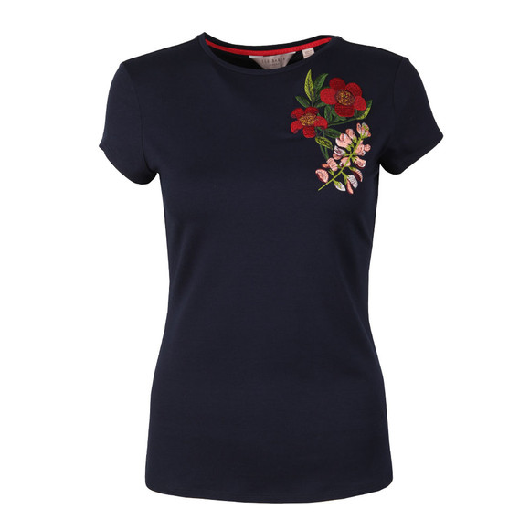 Ted Baker Womens Blue Laylar Kirstenbosch Fitted Tee main image