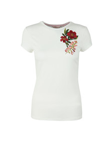 Ted Baker Womens Off-White Laylar Kirstenbosch Fitted Tee