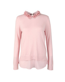 Ted Baker Womens Pink Nansea Floral Collar Mockable Jumper