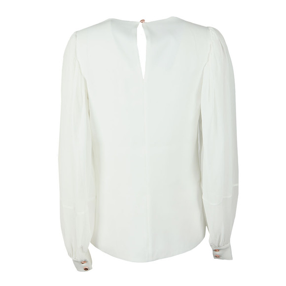 Ted Baker Womens Off-White Kriista Blouson Sleeve Top main image